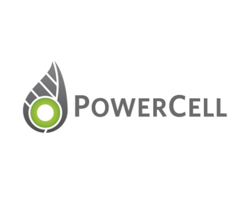 Powercell's logotype.